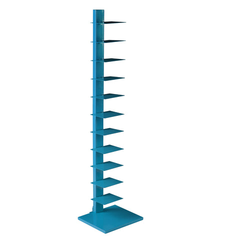 Image of Spine Tower Shelf - Bright Cyan