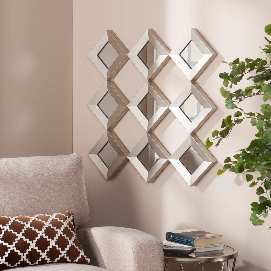 Masada Mirrored Squares Wall Sculpture  -  WS9354
