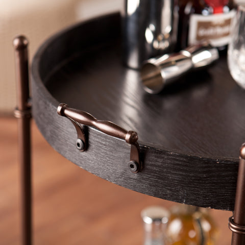 Image of Alfred Two-Tier Round Butler Table