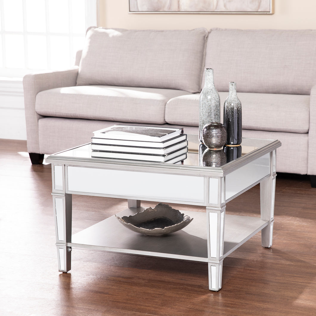 Wedlyn Square Mirrored Cocktail Table  -  CK9340