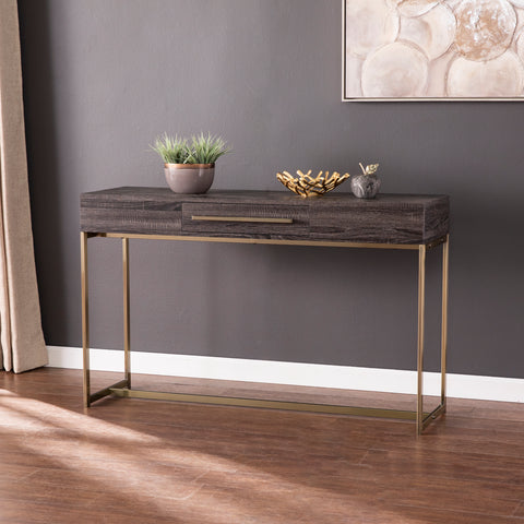 Akmonton Long Console Table w/ Storage
