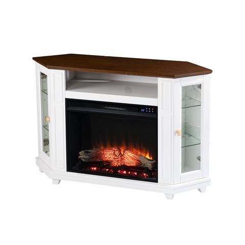 Image of Dilvon Electric Media Fireplace w/ Storage