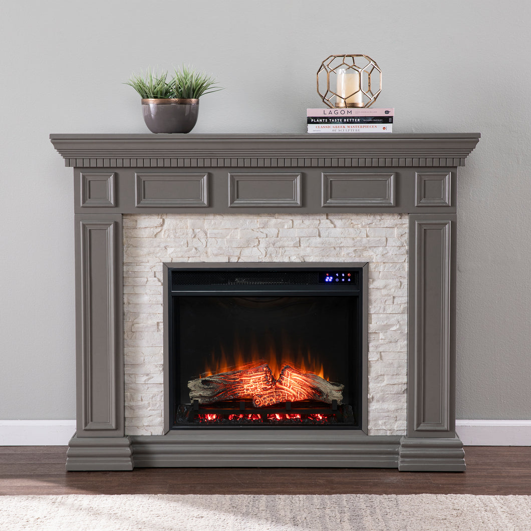 Dakesbury Faux Stone Electric Fireplace  -  FR1095959
