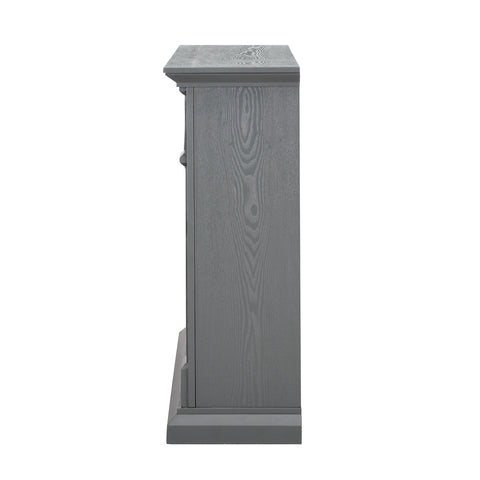 Image of Seneca Electric Media Fireplace - Gray