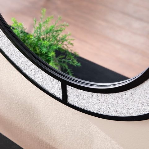 Image of Hurtano Round Faux Stone Mirror