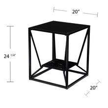 Load image into Gallery viewer, Argall Square Glass-Top End Table  -  CK1023902