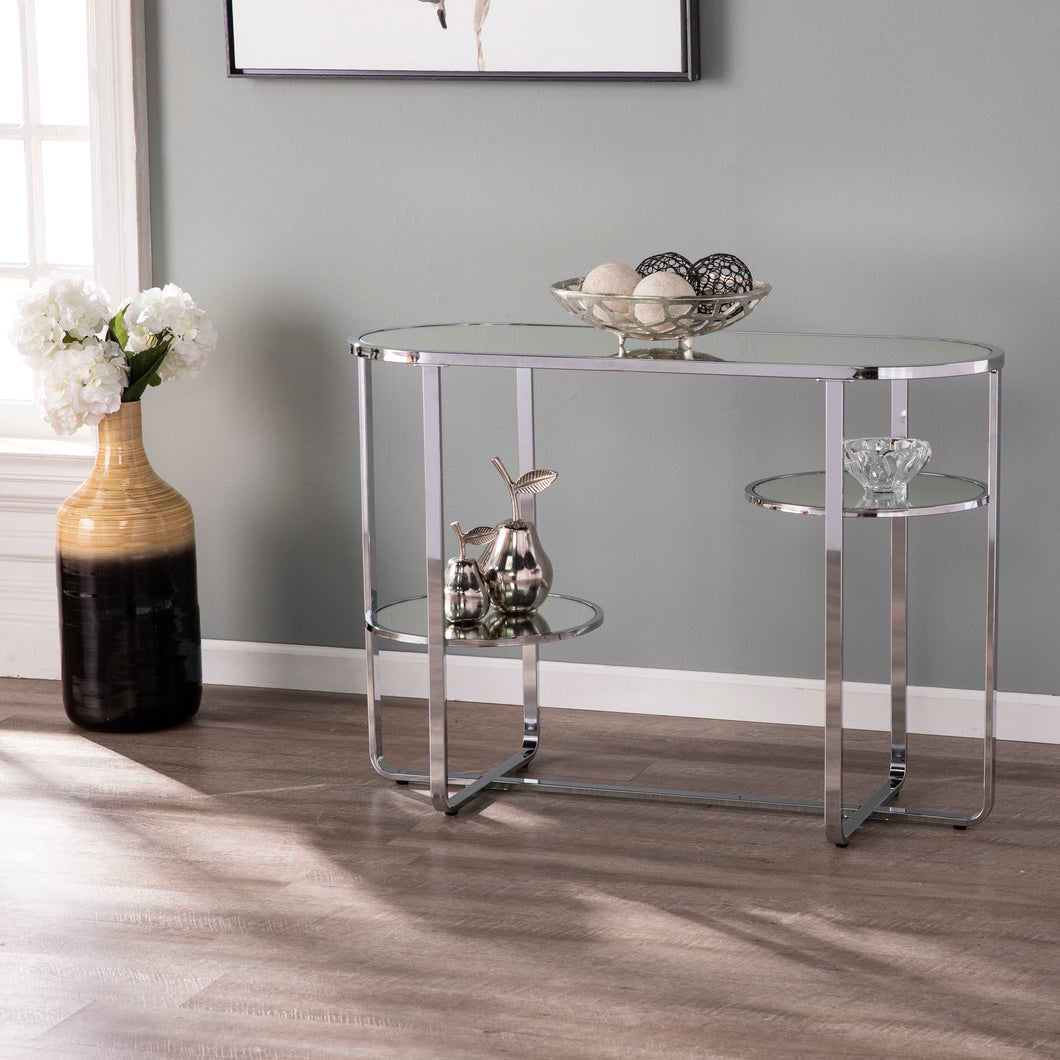 Maxina Mirrored Console Table w/ Storage  -  CM1080903