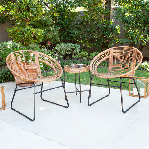 Alandhra Indoor/Outdoor 3pc Bistro Set