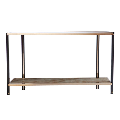 Thornsett Console Table w/ Mirrored Top