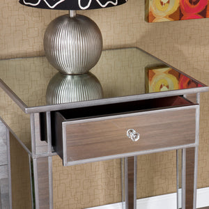 Mirage Mirrored Accent Table