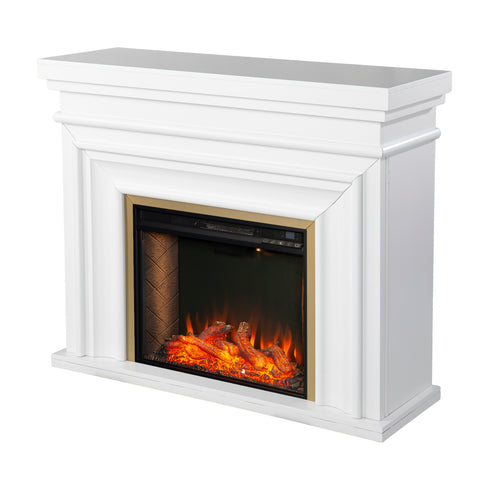 Bevonly Smart Electric Fireplace - White