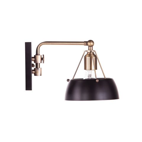 Image of Renmarco Contemporary Wall Sconce - Black