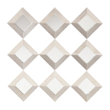 Load image into Gallery viewer, Masada Mirrored Squares Wall Sculpture  -  WS9354