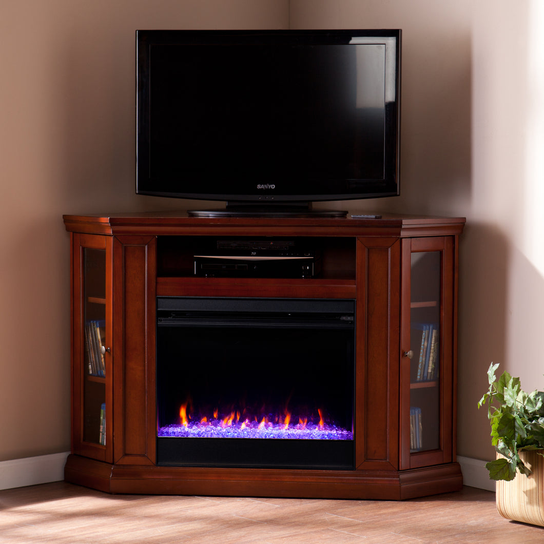 Claremont Color Changing Corner Fireplace – Mahogany  -  FC9316