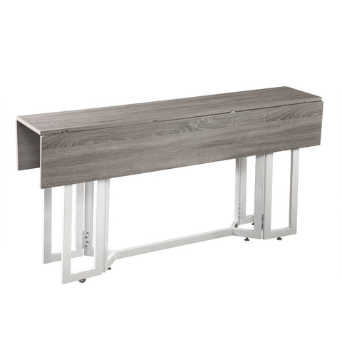 Driness Drop Leaf Table - Weathered Gray