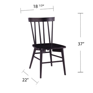 Wendlebury Black Dining Chair Set – 2pc