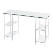 Load image into Gallery viewer, Aiden Metal/Glass Writing Desk - White  -  HO6533