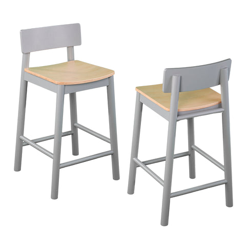 Image of Claxby Two-Tone Counter Stools – 2pc Set
