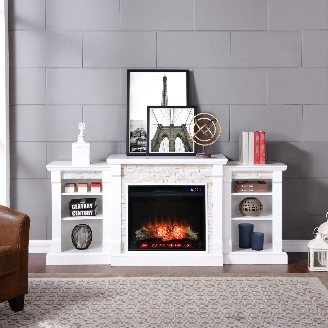 Gallatin Electric Fireplace w/ Bookcases  -  FR8526