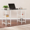 Aiden Metal/Glass Writing Desk - White