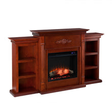 Load image into Gallery viewer, Tennyson Bookcase Electric Fireplace  -  FR8547