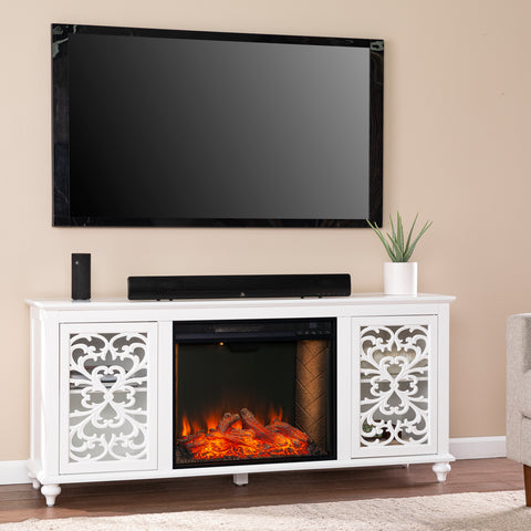 Maldina Smart Electric Fireplace w/ Media Storage