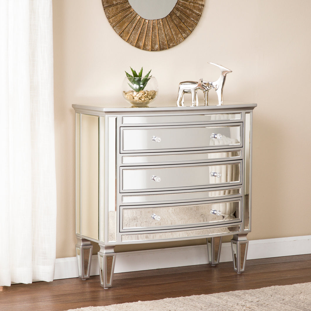 Rochelle 3-Drawer Mirrored Storage Chest - Glam Style  -  OC8164