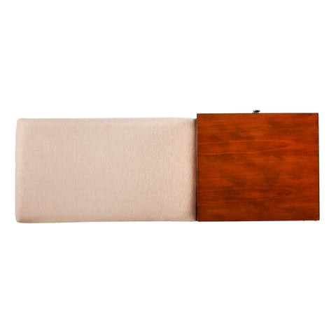 Image of Rhoda Midcentury Modern Upholstered Storage Bench