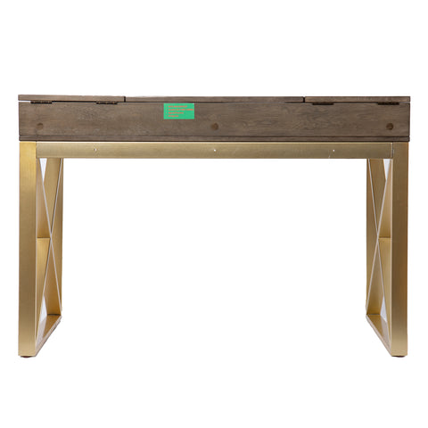 Bardmont Two-Tone Desk w/ Storage