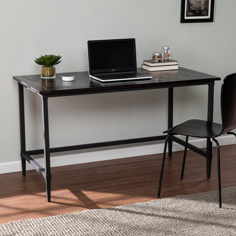 Image of Lawrenny Reclaimed Wood Desk - Black