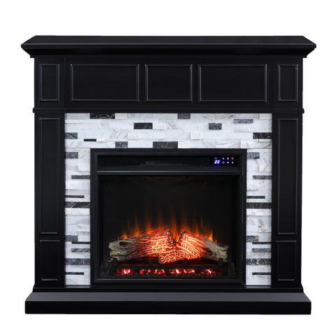 Image of Drovling Marble Electric Fireplace