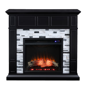 Drovling Marble Electric Fireplace