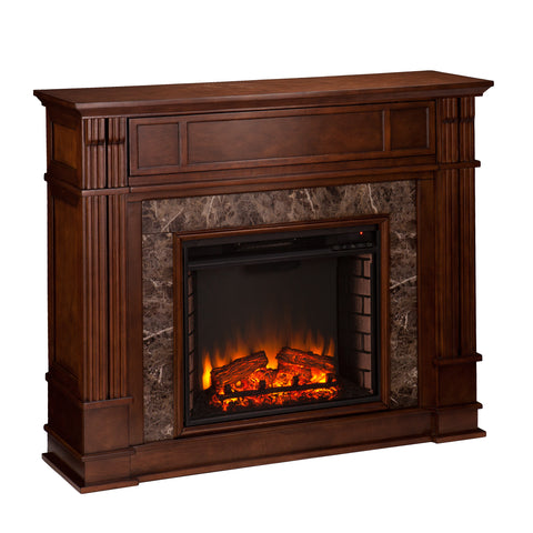 Image of Highgate Electric Fireplace - Whiskey Maple