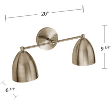 Load image into Gallery viewer, Ridley 2-Light Wall Sconce – Antique Bronze  -  LT8012