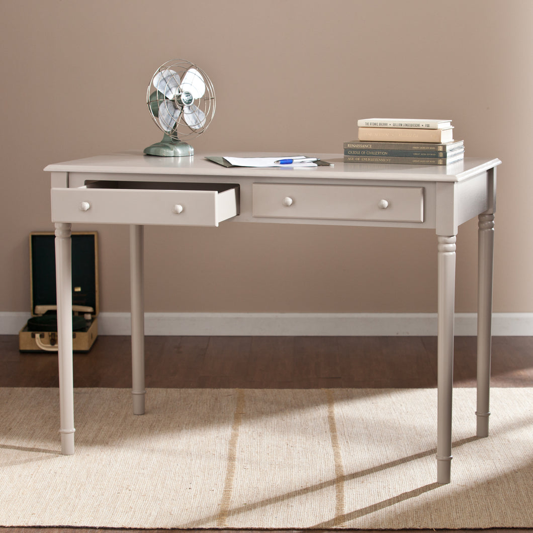 Janice 2-Drawer  Writing Desk - Gray  -  HO8796