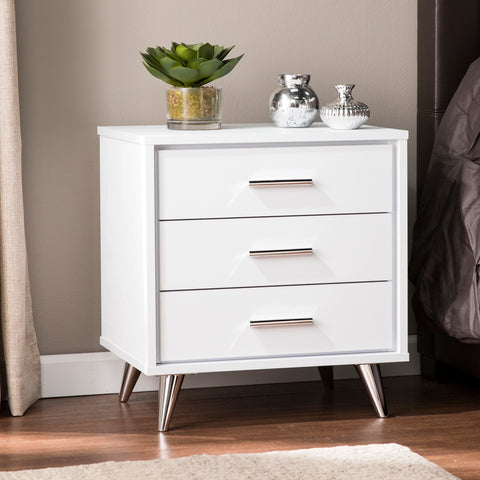 Image of Oren Modern Bedside Table w/ Drawers