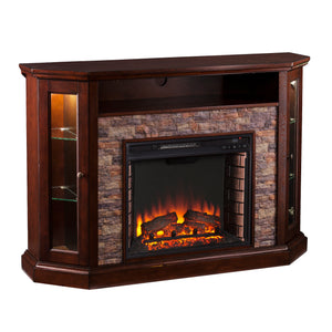 Redden Corner Electric Fireplace - Espresso