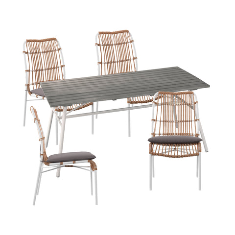 Longino Outdoor Dining Set – 5pc