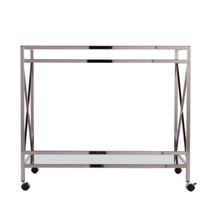 Maxton Silver Bar Cart