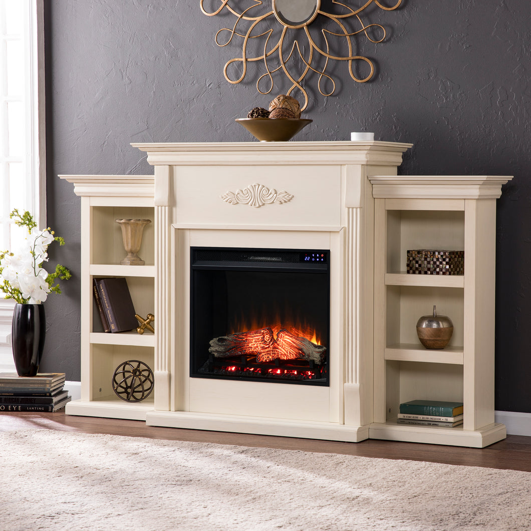 Tennyson Bookcase Electric Fireplace  -  FR8544