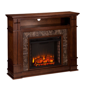 Highgate Electric Fireplace - Whiskey Maple