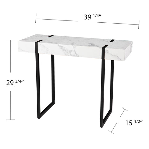 Rangley Modern Faux Marble Console Table