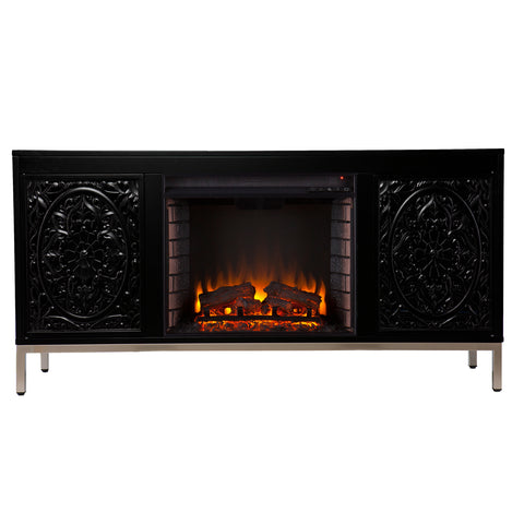 Winsterly Electric Fireplace Console w/ Media Storage
