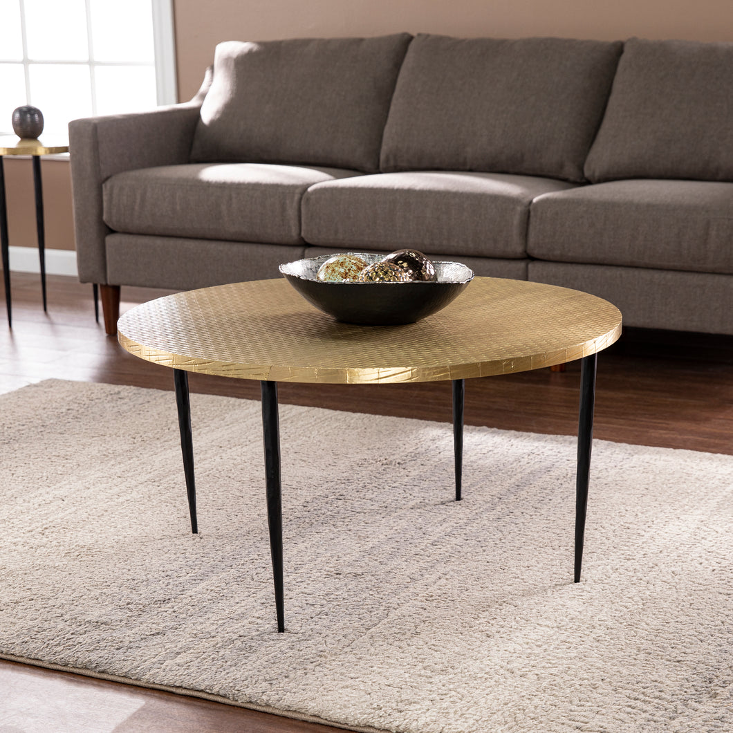 Judmont Round Cocktail Table w/ Embossed Top  -  CK1097700