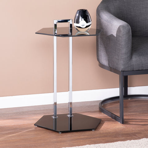 Image of Corxon Glass-Top Side Table