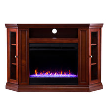 Load image into Gallery viewer, Claremont Color Changing Corner Fireplace – Mahogany  -  FC9316