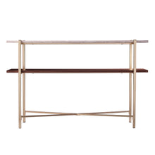 Load image into Gallery viewer, Ardmillan Faux Marble Console Table w/ Storage  -  CK1004903
