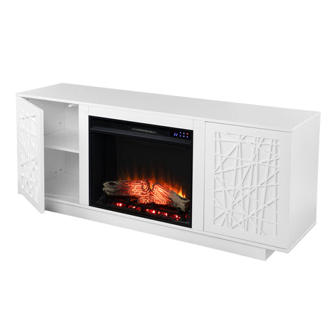 Image of Delgrave Electric Media Fireplace w/ Storage