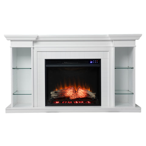 Henstinger Electric Fireplace w/ Bookcase