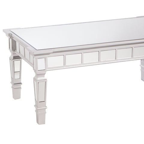 Image of Glenview Glam Mirrored Rectangular Cocktail Table